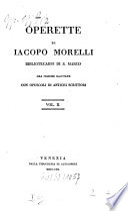 Operette   di Jacopo Morelli