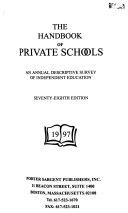 Handbook Of Private Schools