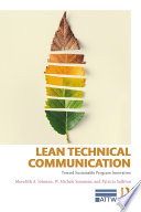 Lean Technical Communication