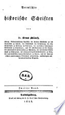 Vermischte historische Schriften