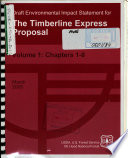 Mt  Hood National Forest  N F    the Timberline Express Proposal