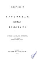 The Library of Anglo Catholic Theology  Responsio ad Apologiam Cardinalis Bellamini