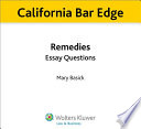 California Remedies Essay Questions for the Bar Exam
