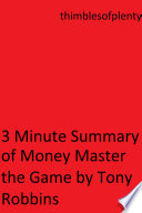 download ebook 3 minute summary of money master the game by tony robbins pdf epub