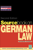 Sourcebook on German Law 2/e