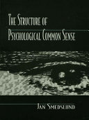 The Structure of Psychological Common Sense