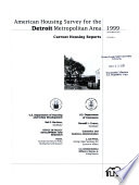 Current Housing Reports  H 170  American Housing Survey for the Detroit Metropolitan Area in