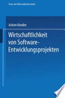 Wirtschaftlichkeit von Software-Entwicklungsprojekten