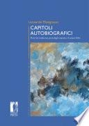 CAPITOLI AUTOBIOGRAFICI