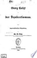 Georg Calixt und der Synkretismus