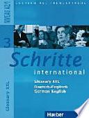 Schritte international 3  Niveau A2 1  Glossar XXL Deutsch Englisch German English