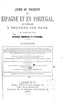 Guide du touriste en Espagne et en Portugal, ou Itineraire a travers ces pays