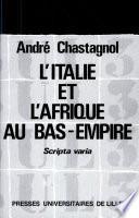 illustration du livre L' Italie et l'Afrique au Bas-Empire