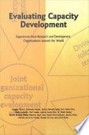Evaluating Capacity Development