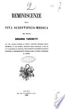 Reminescenze della vita scientifico medica