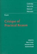 Kant: Critique of Practical Reason
