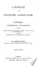 A Dictionary of the Spanish Language