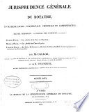 Jurisprudence g  n  rale du Royaume en mati  re civile  commerciale  criminelle et administrative