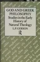 God and Greek Philosophy