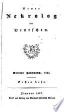 Neuer Nekrolog der Deutschen ...