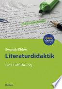 Literaturdidaktik  Eine Einf  hrung