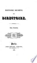 Histoire secrète du Directoire