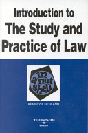 Introduction to the Study and Practice of Law in a Nutshell