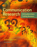 Communication Research  Asking Questions  Finding Answers