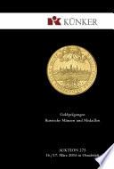 Künker Auktion 275 - Goldprägungen | Russische Münzen und Medaillen