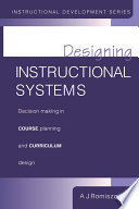 Designing Instructional Systems