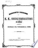 Programm des K.K. Obergymnasiums zu Iglau