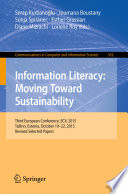 Information Literacy  Moving Toward Sustainability