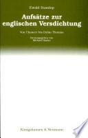 Aufsätze zur englischen Versdichtung