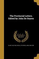 PROVINCIAL LETTERS EDITED BY J Culturally Important And Is Part
