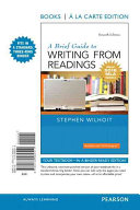 A Brief Guide to Writing from Readings  Books a la Carte Edition  MLA Update Edition
