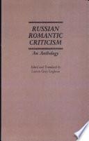Russian Romantic Criticism
