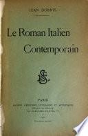 Le roman italien contemporain