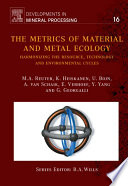 The Metrics Of Material And Metal Ecology book