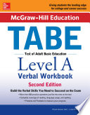 McGraw Hill Education TABE Level A Verbal Workbook  2nd edition