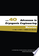 Advances in Cryogenic Engineering Materials
