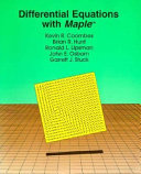 Differential Equations with Maple PDF