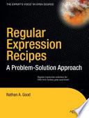 Regular Expression Recipes