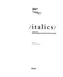 Italics  Catalogo Della Mostra  Venezia  27 Settembre 2008 22 Marzo 2009   Ediz  Inglese