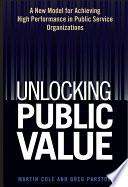 Unlocking Public Value
