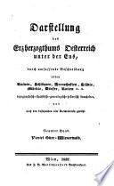 Darstellung des Erzherzogthums Oesterreich unter der Ens
