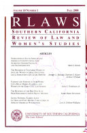 Southern California review of law and women's studies