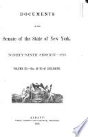 Documents of the Senate of the State of New York Book PDF