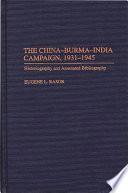 The China Burma India Campaign  1931 1945