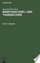 Meyerbeer / Briefwechsel und Tagebücher Band 7