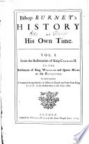 History Of His Own Time : ...
